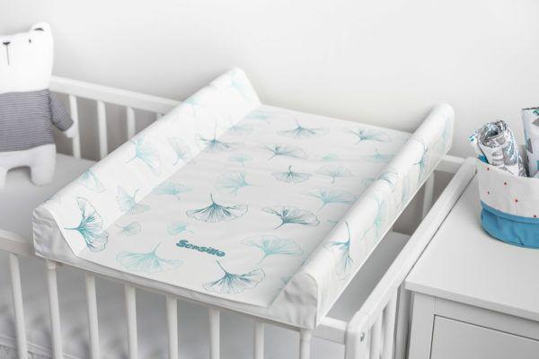 Przewijak usztywniony na łóżeczko Sensillo nadruk Botanical Platyna
