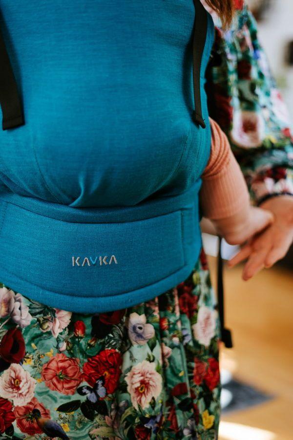 Nosidełko KAVKA Multi-Age turquoise linen